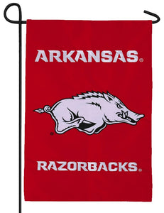 University of Arkansas Running Hog Applique Garden Flag