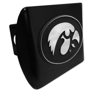 University of Iowa Hawkeyes Black Hitch Cover