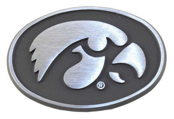 University of Iowa Hawkeyes Matte Chrome Car Emblem