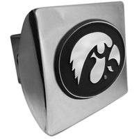 University of Iowa Hawkeyes Shiny Chrome Hitch Cover