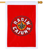 University of Lafayette Ragin Cajuns Applique House Flag