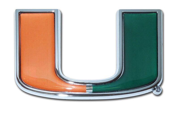 University of Miami Chrome and Color Car Emblem
