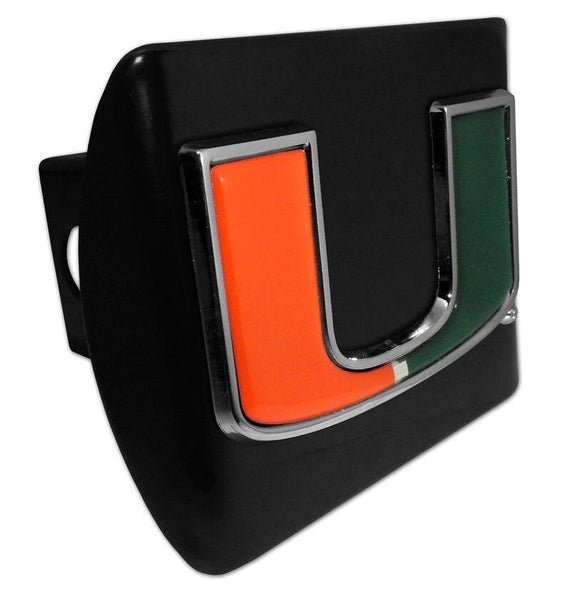 University of Miami Color Emblem Black Hitch Cover
