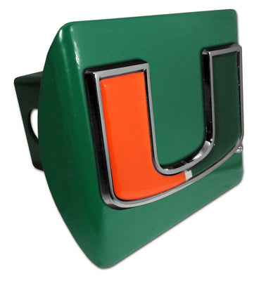 University of Miami Color Emblem Green Hitch Cover