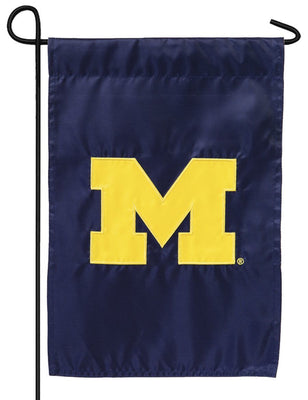 University of Michigan M Applique Garden Flag