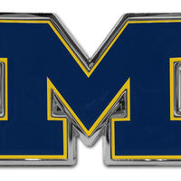 "University of Michigan Navy ""M"" Chrome and Color Car Emblem"