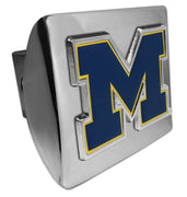 "University of Michigan Navy ""M"" Shiny Chrome Hitch Cover"
