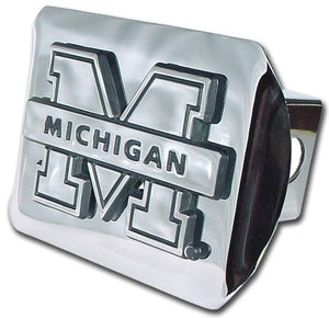 University of Michigan Shiny Chrome Hitch Cover