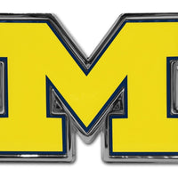 "University of Michigan Yellow ""M"" Chrome and Color Car Emblem"