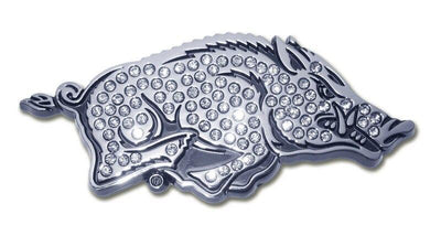 University of Arkansas Running Hog Crystal Chrome Emblem