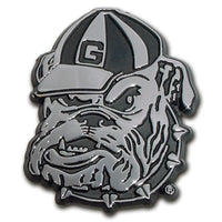 University of Georgia Bulldog Chrome Car Emblem - Chrome Car Emblems | Trailer Hitch Covers/Collegiate Car Emblems/Georgia University - I AmEricas Flags
