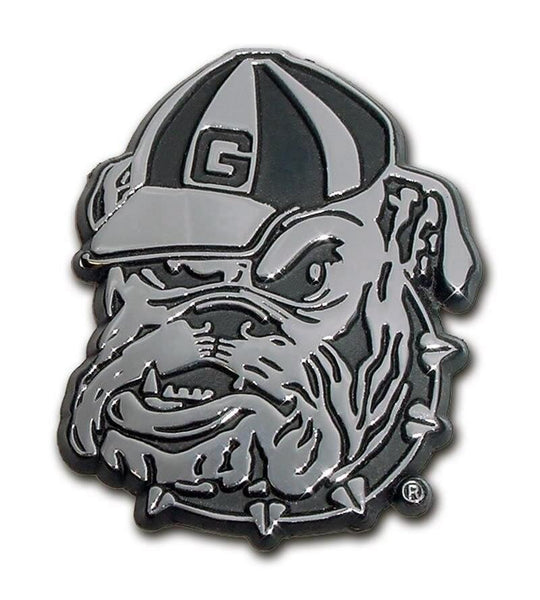 University of Georgia Bulldog Chrome Car Emblem