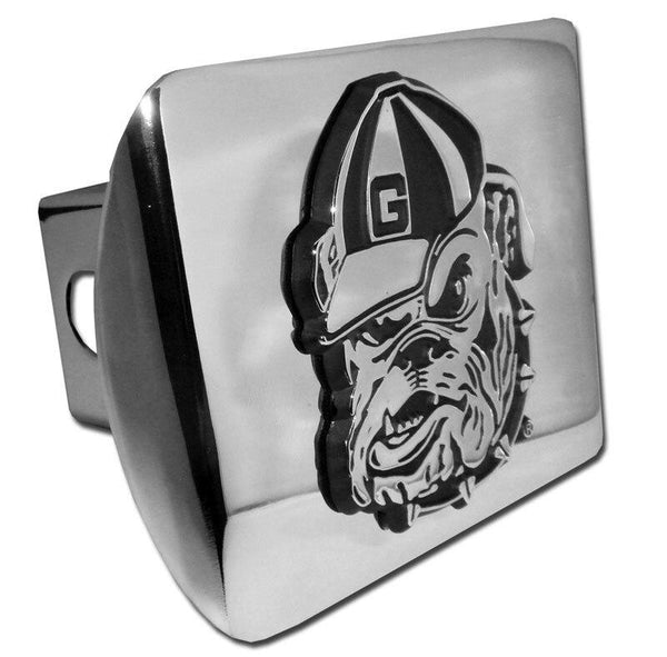 University of Georgia Bulldog Shiny Chrome Hitch Cover