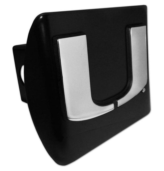 University of Miami Black Hitch Cover