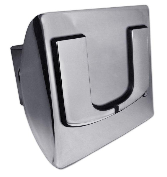 University of Miami Shiny Chrome Hitch Cover