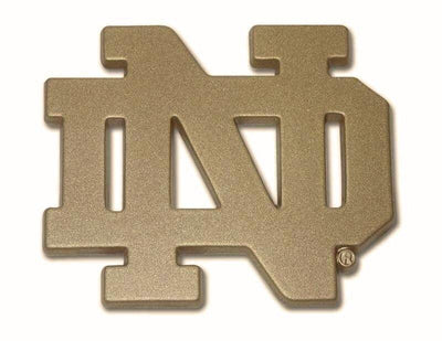 University of Notre Dame ND Gold Color Car Emblem
