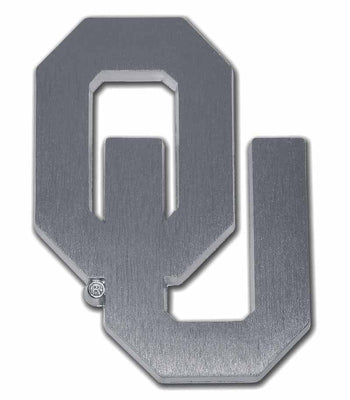 University of Oklahoma OU Matte Chrome Car Emblem
