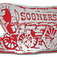 University of Oklahoma Sooner Schooner Chrome and Crimson Car Emblem