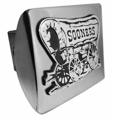 University of Oklahoma Sooner Schooner Shiny Chrome Hitch Cover