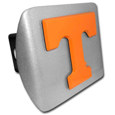 University of Tennessee Orange T Brushed Chrome Hitch Cover