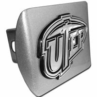 University of Texas EL Paso Brushed Chrome Hitch Cover