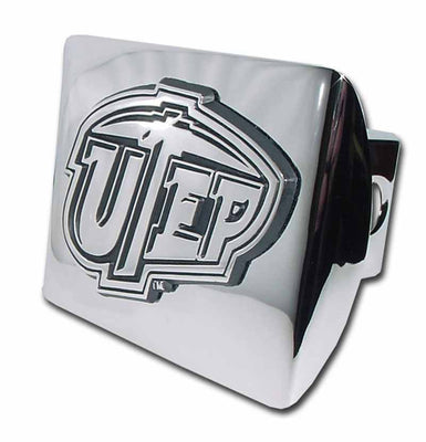 University of Texas EL Paso Shiny Chrome Hitch Cover