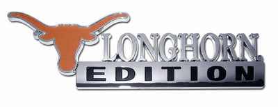 University of Texas Longhorn Edition Chrome Car Emblem
