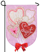 Valentine Cookie Bouquet Double Applique Garden Flag