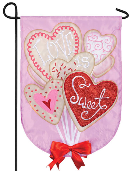 Valentine Cookie Bouquet Double Applique Garden Flag - All Decorative Flags/Holidays/Valentine's Day Flags - I AmEricas Flags