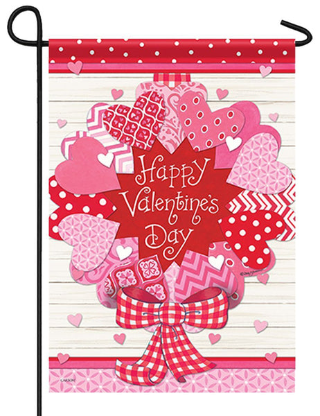Valentine Wreath Garden Flag - All Decorative Flags/Holidays/Valentine's Day Flags - I AmEricas Flags