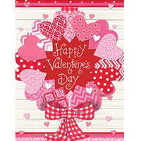 Valentine Wreath House Flag