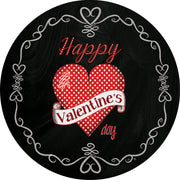 Valentine on Black Accent Magnet