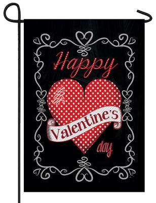 Valentine on Black Garden Flag