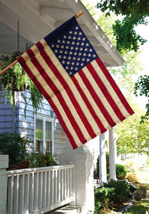 Vintage Antique Sewn Nylon American House Flag - All Decorative Flags/Themes/Patriotic Flags - I AmEricas Flags