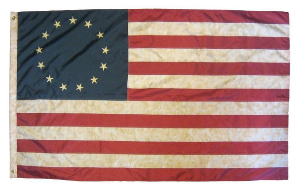 Vintage Antiqued Sewn Nylon 3x5 Betsy Ross Flag - Historical Flags/Revolutionary War Flags - I AmEricas Flags