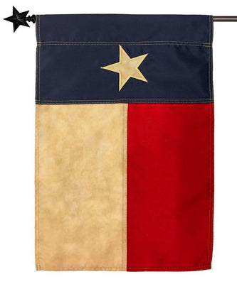 Vintage Antiqued Sewn Nylon Texas House Flag