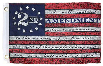 Vintage Betsy Ross 2nd Amendment 12x18 Boat Flag