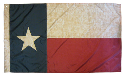Vintage Antiqued Sewn Nylon 3x5 Texas Flag
