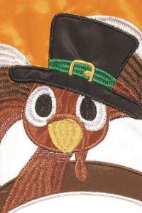 Wanna Piece of Turkey? Double Applique House Flag Detail 1