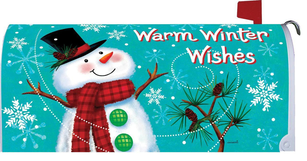 Warm Winter Wishes Snowman Mailbox Cover