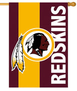 Washington Redskins Embellished Applique House Flag