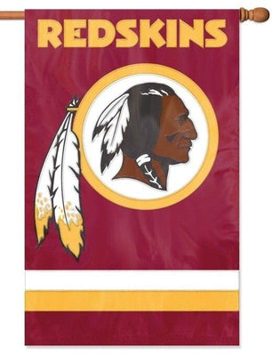 Washington Redskins Applique House Flag
