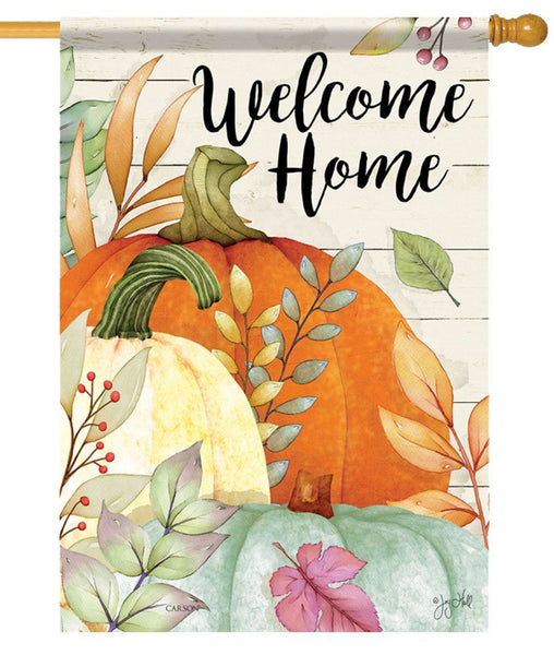 Watercolor Pumpkins House Flag