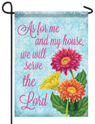 We Will Serve the Lord Garden Flag