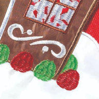 Welcome Gingerbread House Double Applique Garden Flag Detail 1