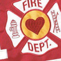 Welcome Home Firefighter Double Applique Garden Flag Detail