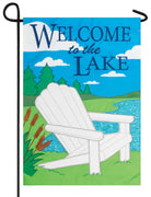 Welcome Lake Adirondack Double Applique Garden Flag
