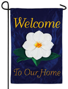 Welcome Magnolia Applique Garden Flag
