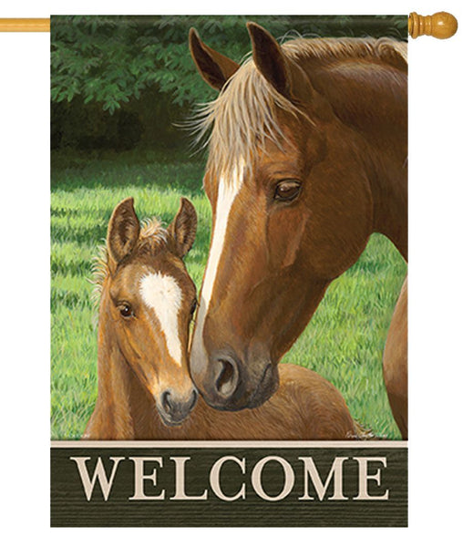 Welcome Mare and Foal House Flag
