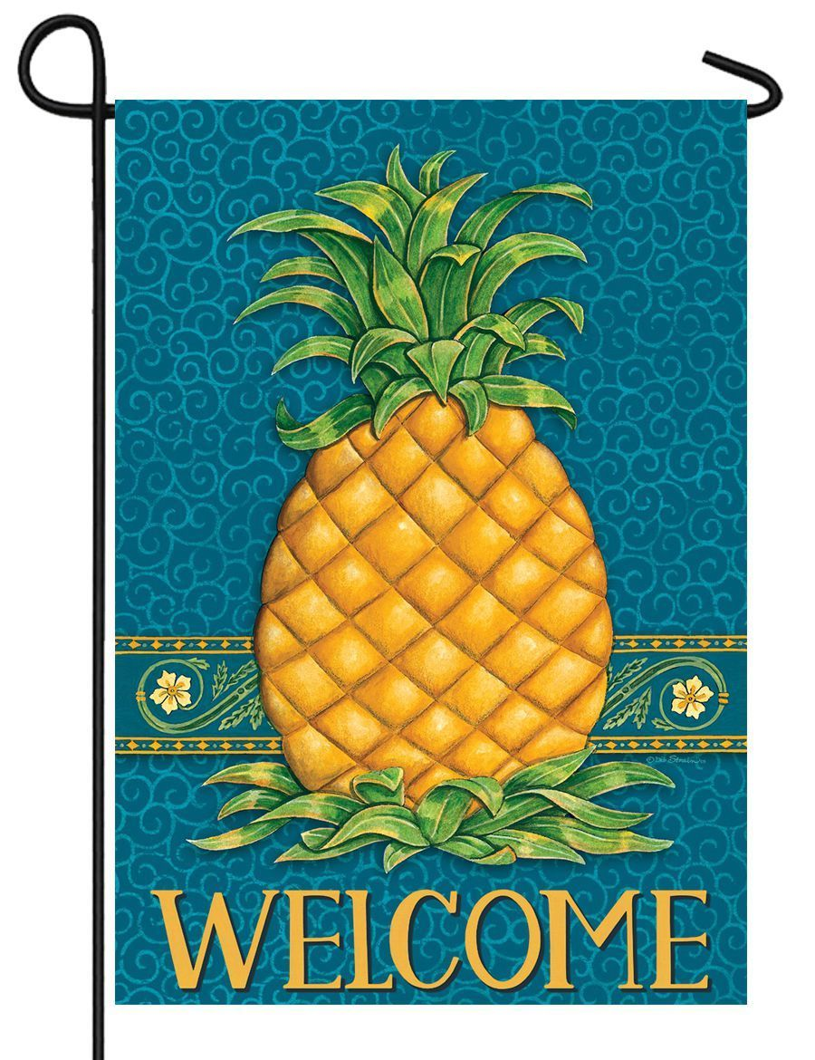 Welcome Pineapple Garden Flag